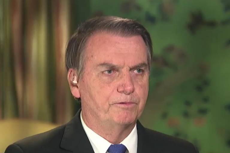 Jair Bolsonaro concede entrevista à Fox News em Washington, nos EUA, nesta segunda (18)