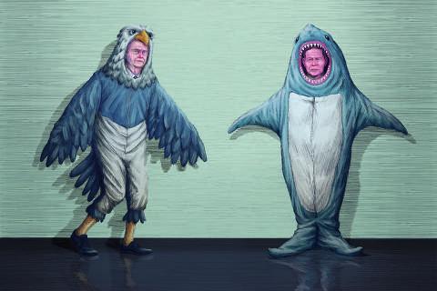 Na escolta do Planalto, Bolsonaro é águia, e Mourão, tubarão; saiba mais sobre as feras