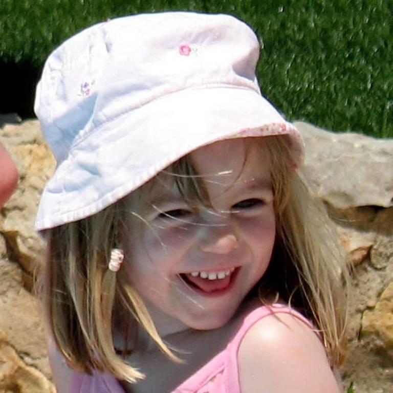 A menina Madeleine McCann, desaparecida no dia 3 de maio de 2007 em Portugal