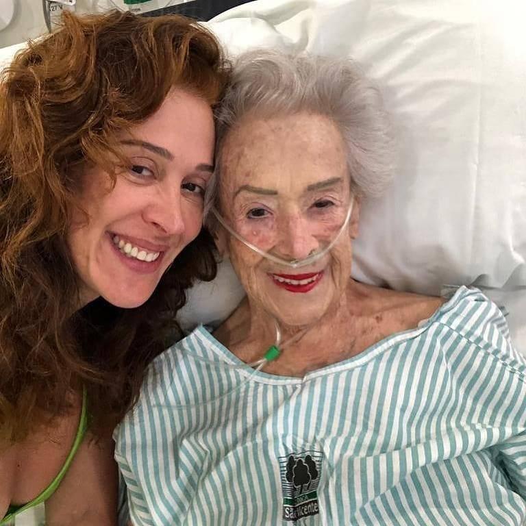 Claudia Raia e a mãe, Odette