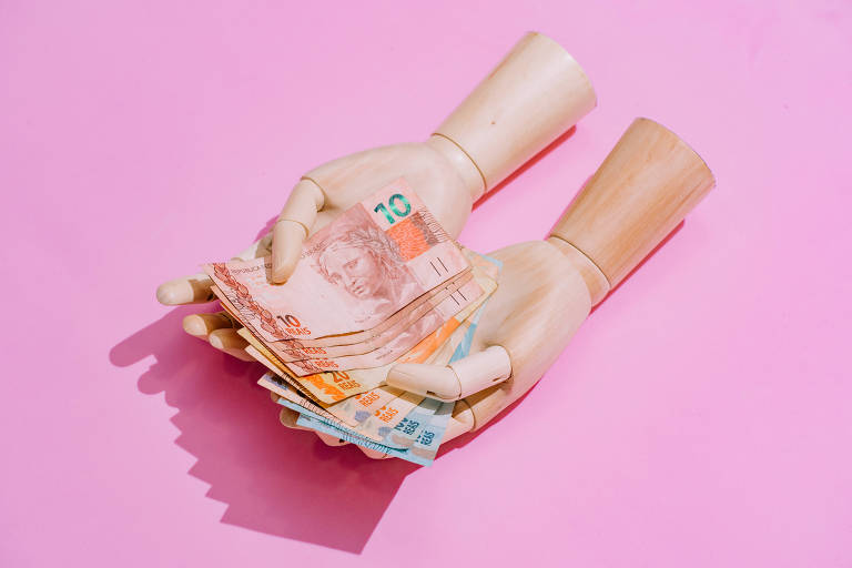 Cédulas de real em papel moeda