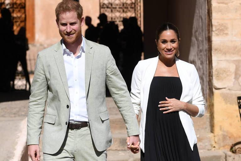 Príncipe Harry e a duquesa Meghan em visita ao Marrocos