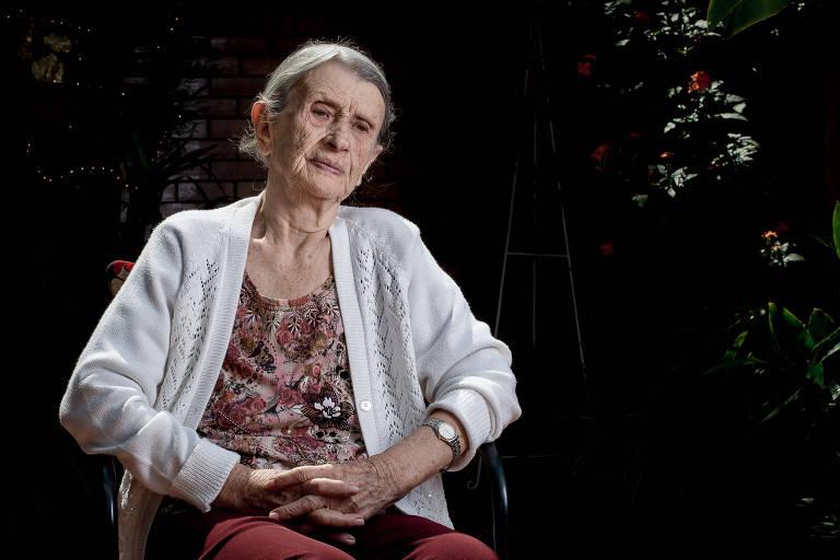 A polonesa Chana Flam no lar de idosos em Belo Horizonte onde viveu