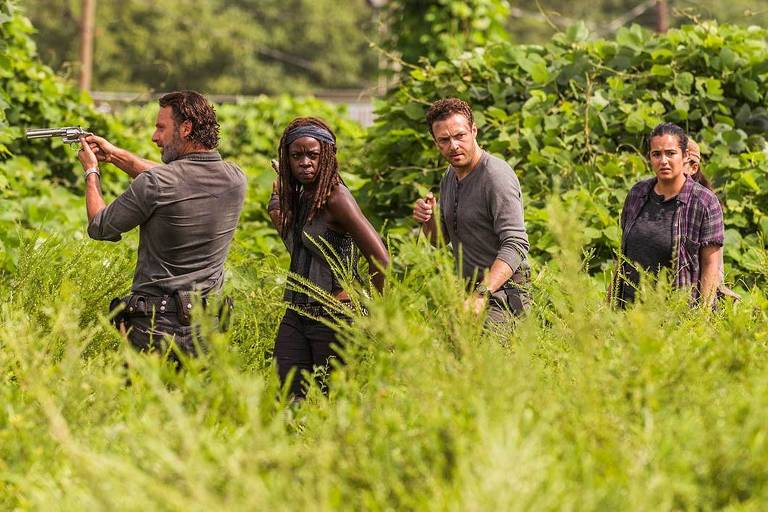 "Cena da série ""The Walking Dead"""