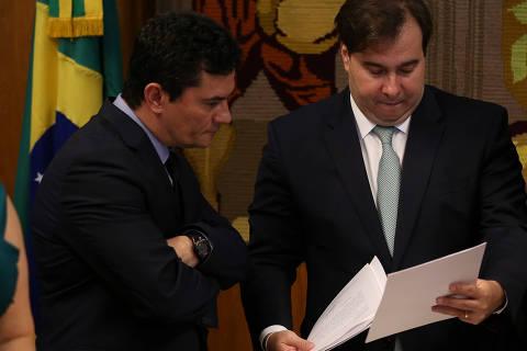 Respeitamos a liderança de Maia na Câmara, diz Moro após críticas