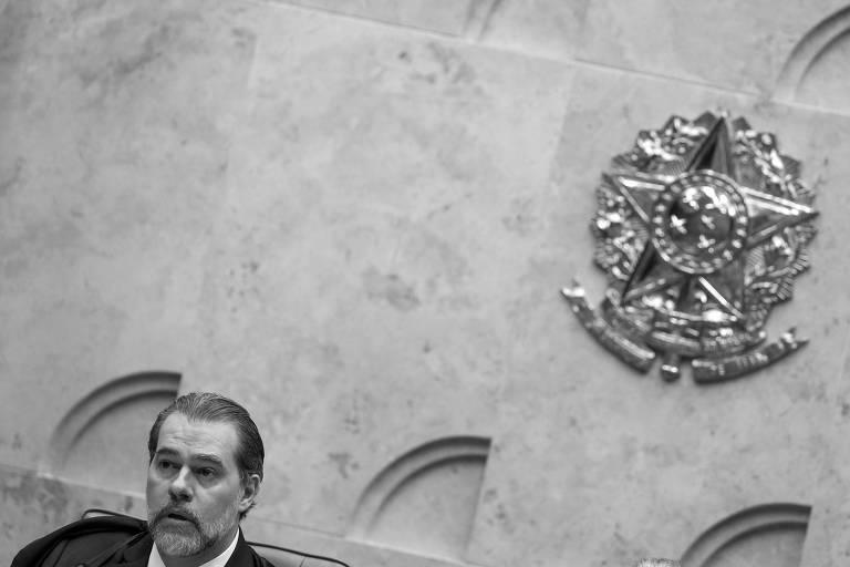 O presidente do Supremo Tribunal Federal, Dias Toffoli, durante sessão solene na corte, em outubro do ano passado