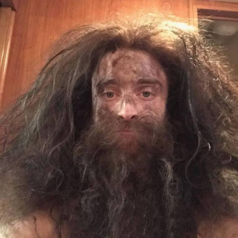 """Daniel Radcliffe como """"Hagrid"""""""