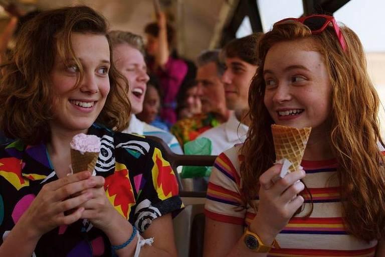 Cena da 3ª temporada de 'Stranger Things', série da Netflix