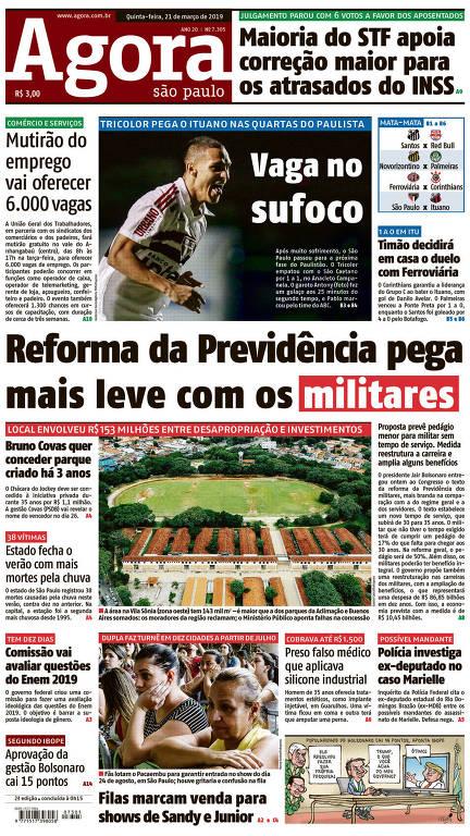 Capas do Agora no mês de março