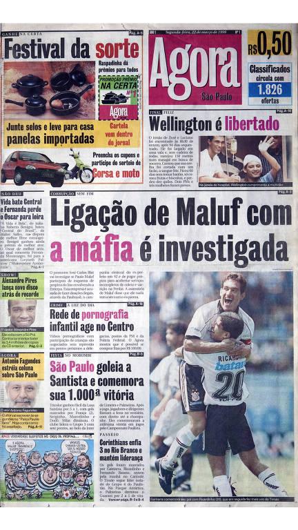 As principais capas dos 20 anos do jornal Agora São Paulo