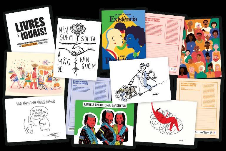 """O livro """"Livres e Iguais!"""", que trata dos 70 anos da Declaração Universal dos Direitos Humanos"""