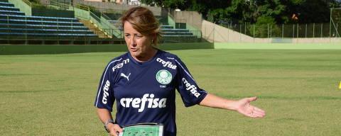A treinadora, Ana Lúcia Gonçalves.  Crédito: Tatiane Marques