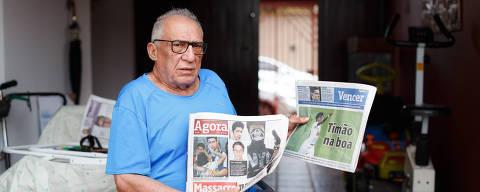 SAO PAULO, SP, BRASIL.14.03.2019. Manoel Francisco Cardoso conseguiu uma cirurgia após dois anos de espera com ajuda da coluna Defesa do Cidadão do jornal Agora São Paulo  (foto: Rubens Cavallari/Folhapress, NAS RUAS, ****ESPECIAL****). ***EXCLUSIVO AGORA***EMBARGADA PARA VEICULOS ON LINE***UOL E FOLHA.COM E FOLHAPRESS CONSULTAR FOTOGRAFIA DO AGORA SÃO PAULO***f: 3224-2169, 3224-3342.   Selene Id: