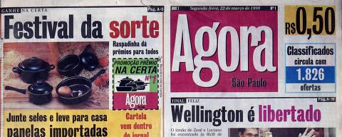 Reprodução da capa da primeira edição do Agora, do dia 22 de março 1999. ORG XMIT: AGEN1903191755678144