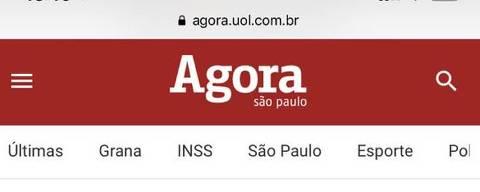 Print da home mobile do Agora