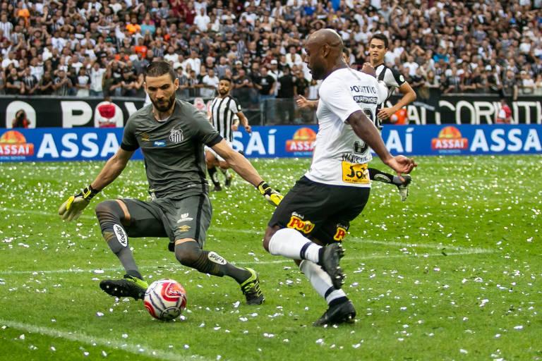 Corinthians e Santos empataram em 0 a 0 na primeira fase do Paulista