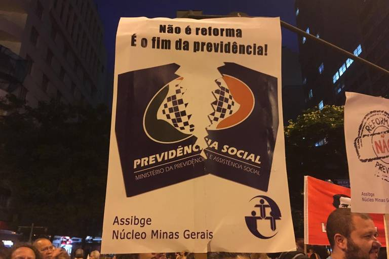 Manifestações contra a reforma da Previdência