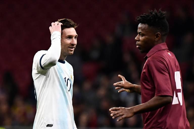 Messi não evitou derrota da Argentina
