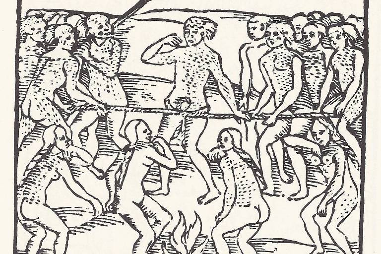 Execução de prisioneiro em tribo indígena, segundo texto de Hans Staden