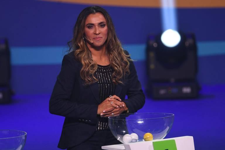 Marta fala sobre sua história e marca gol de placa na ONU