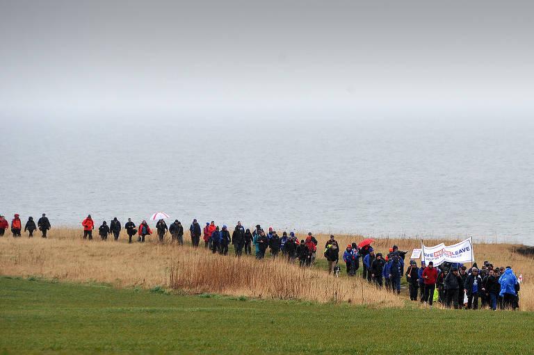 Marcha para Sair percorre 400 km na Inglaterra para defender brexit
