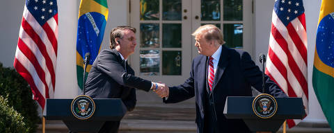 WHASHINGTON, DC, 19-03-2019 -   President Trump Welcomes the President of the Federative Republic of Brazil to the White House.