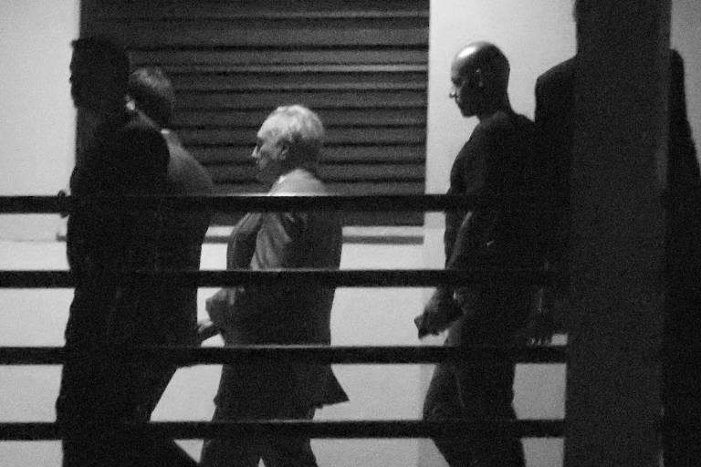 O ex-presidente Michel Temer na Polícia Federal, no Rio