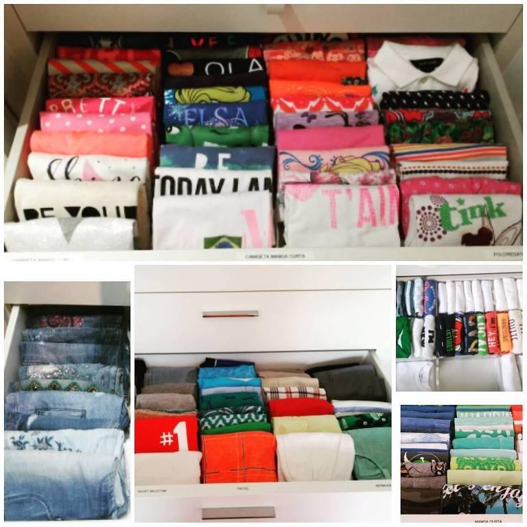 Veja como guardar roupas no armário