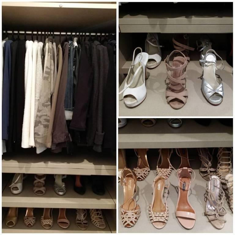 Modelo de como guardar calçados