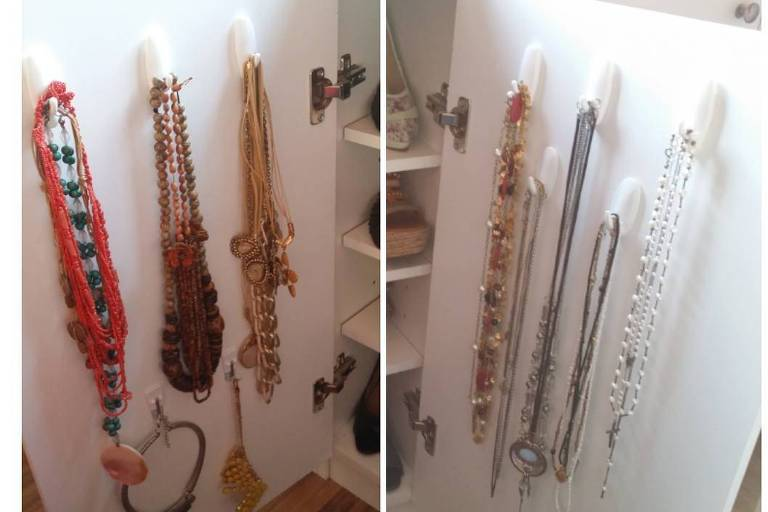 Exemplo de como guardar colares