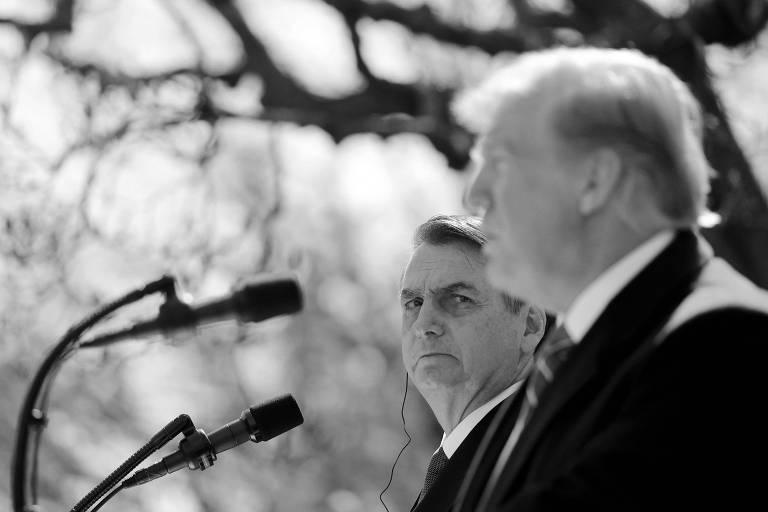 Jair Bolsonaro e Donald Trump, em Washington; presidente americano disse que apoiará entrar do Brasil na OCDE