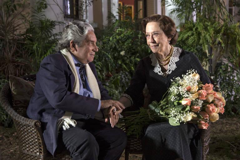 """Domingos de Oliveira e Fernanda Montenegro em cena do filme """"Infância"""", de 2014"""