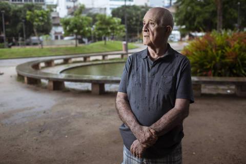 Rio de Janeiro, Rj, BRASIL. 21/03/2019;  Retrato do general da reserva Bolívar Meirelles, que discordou do golpe militar em 1964 e acabou sendo preso pelos colegas do Exército ( Foto: Ricardo Borges/Folhapress)