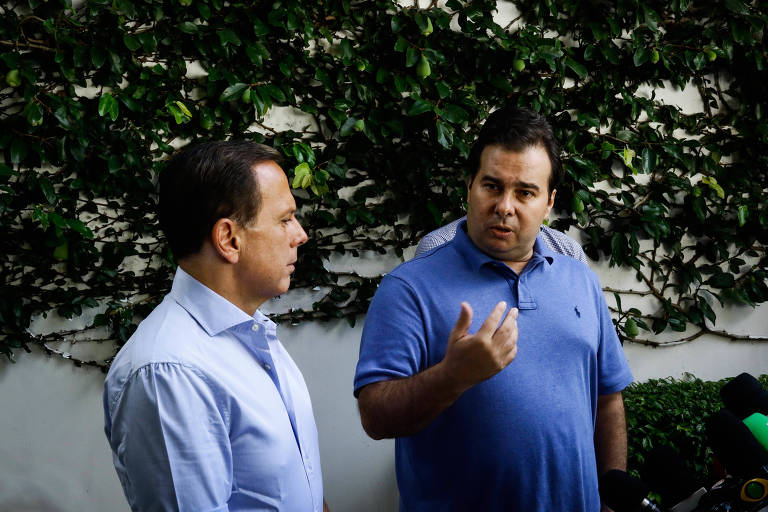 Rodrigo Maia se reúne com Doria em SP