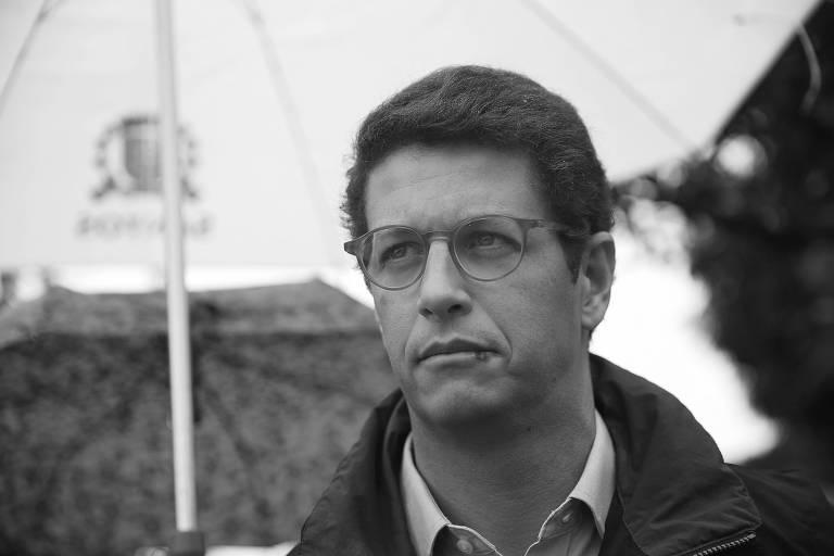 O ministro do Meio Ambiente, Ricardo Salles, durante evento em Santos, no litoral paulista, na última sexta (22)