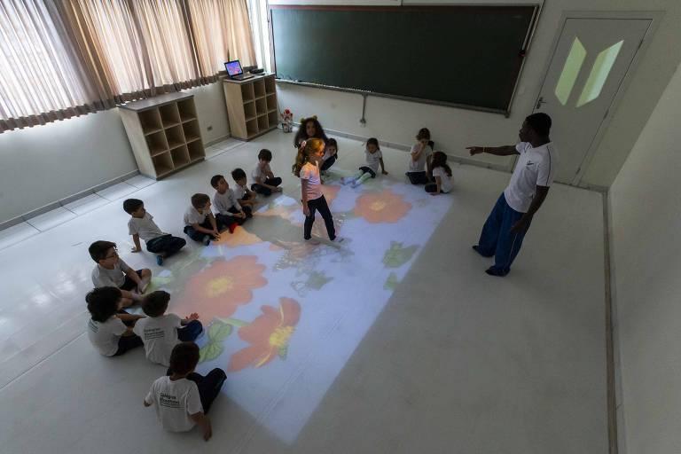 Sala de educação infantil em colégio de São Paulo