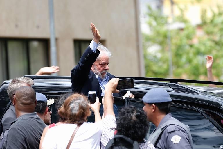 O ex-presidente Lula depois de preso