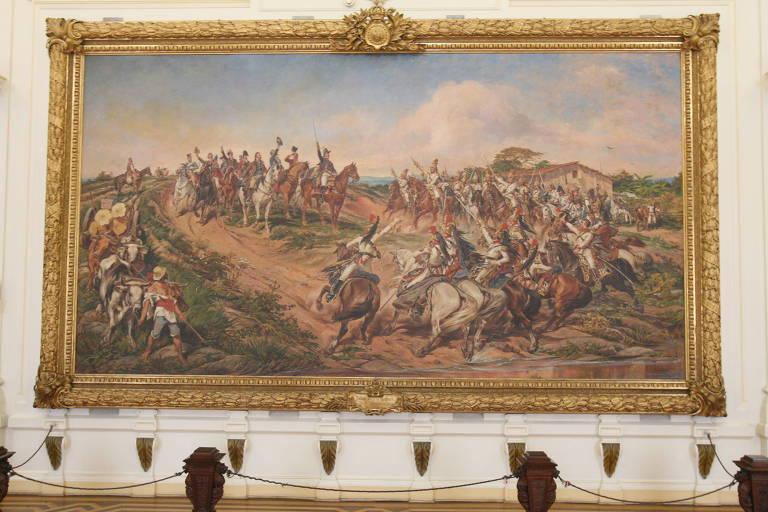 """""""Independencia ou Morte"""", tela de Pedro Américo, no Museu do Ipiranga"""