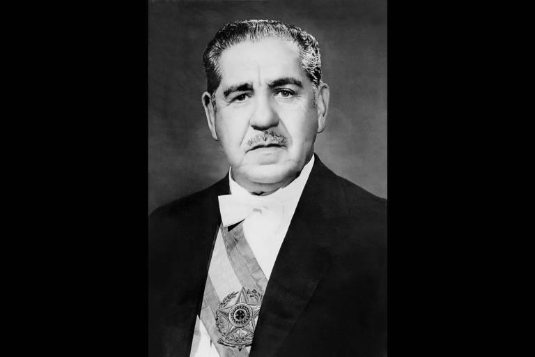 Costa e Silva: outro articulador do golpe, tornou-se ministro do Exército após a posse de Castello Branco. Em 1967, assumiu a Presidência