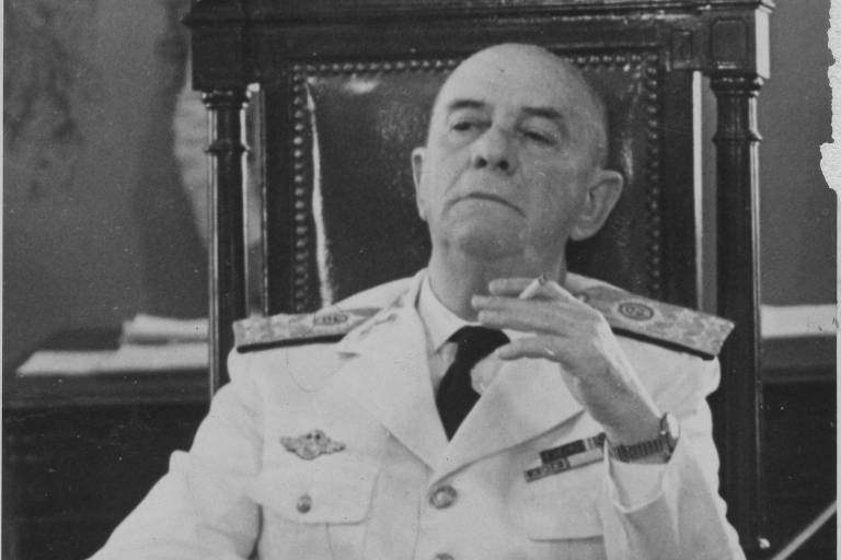 Olympio Mourão Filho: em 31.mar, o general liderou tropas de Juiz de Fora (MG) para o Rio, ação que culminou na queda de Jango. Depois do golpe, porém, teve atuação discreta. Em set.64, foi nomeado ministro do Supremo Tribunal Militar, onde ficou até se aposentar, em 1969