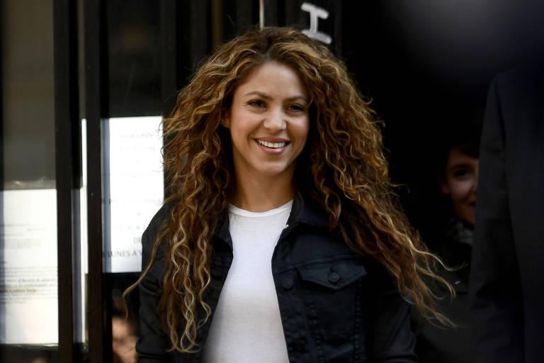 Shakira deixa tribunal em Madri
