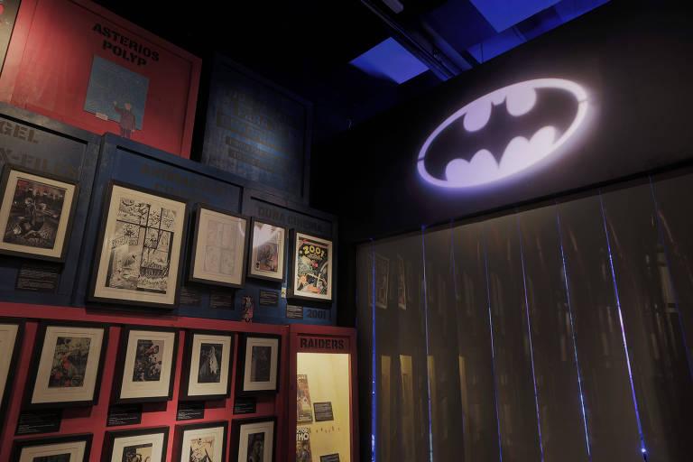Batcaverna na exposição 'Quadrinhos' do MIS