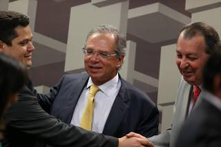 CAE SENADO / PAULO GUEDES / ECONOMIA / PREVIDENCIA