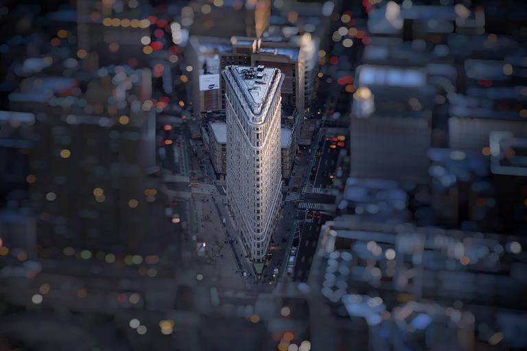 Nova York vista a partir de helicóptero