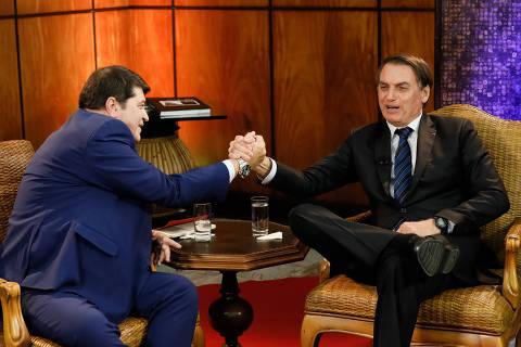 (São Paulo - SP, 27/03/2019) Presidente da República, Jair Bolsonaro durante entrevista com José Luiz Datena. Foto: Isac Nóbrega/PR