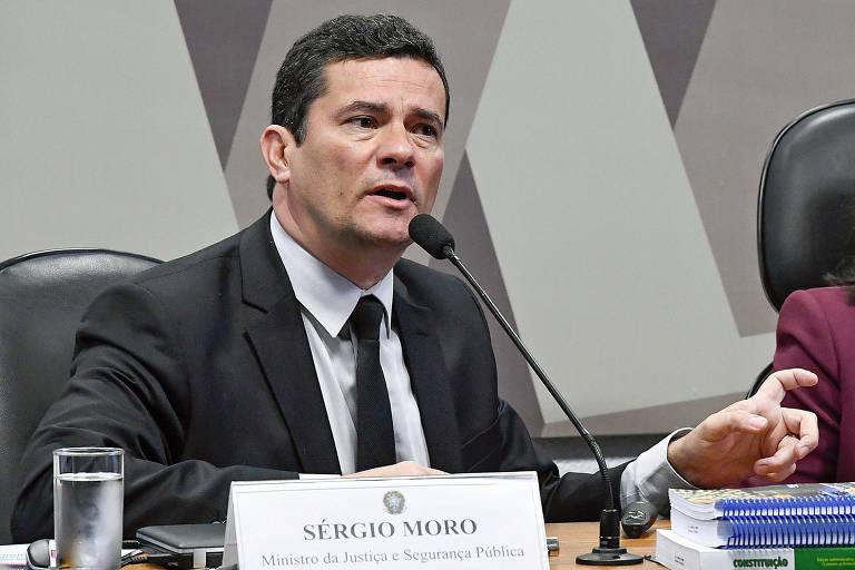 O ministro da Justiça, Sergio Moro, em audiência na qual detalhou o pacote anticrime