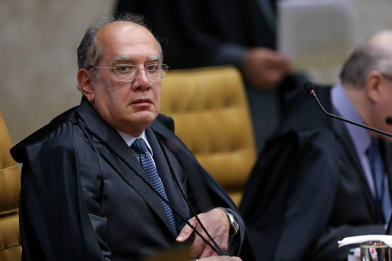 O ministro Gilmar Mendes em sessão do STF