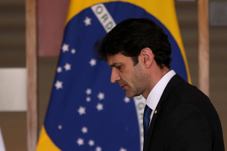 Ministro do Turismo Marcelo Álvaro Antônio, durante assinatura de atos após reunião no Palácio do Itamaraty