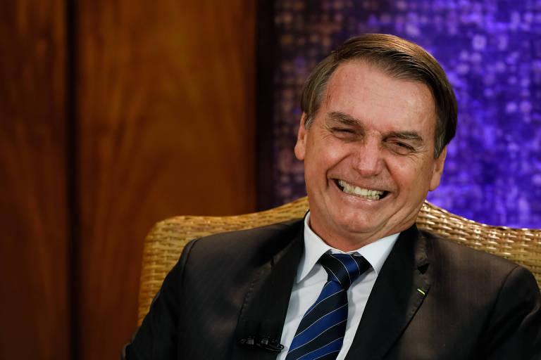 O presidente Jair Bolsonaro durante entrevista com Datena na quarta-feira (27)