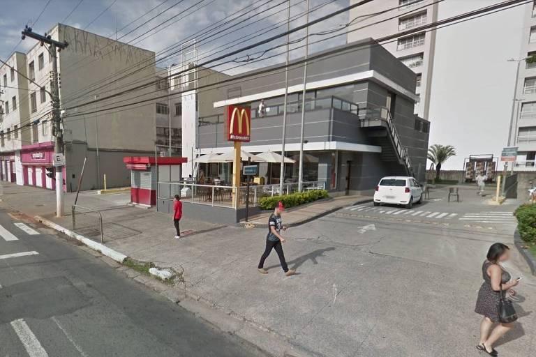 Lanchonete em que ocorreu o caso, na Vila Mariana